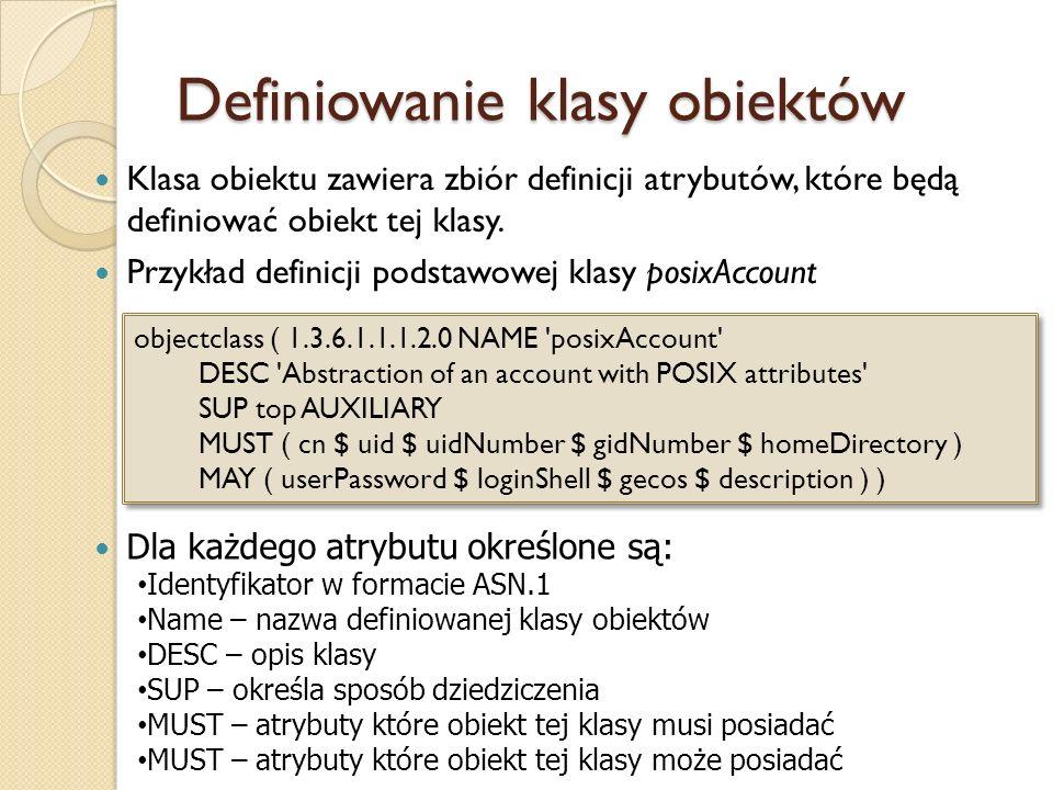 Definiowanie klasy obiektów