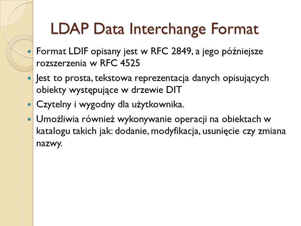 LDAP Data Interchange Format