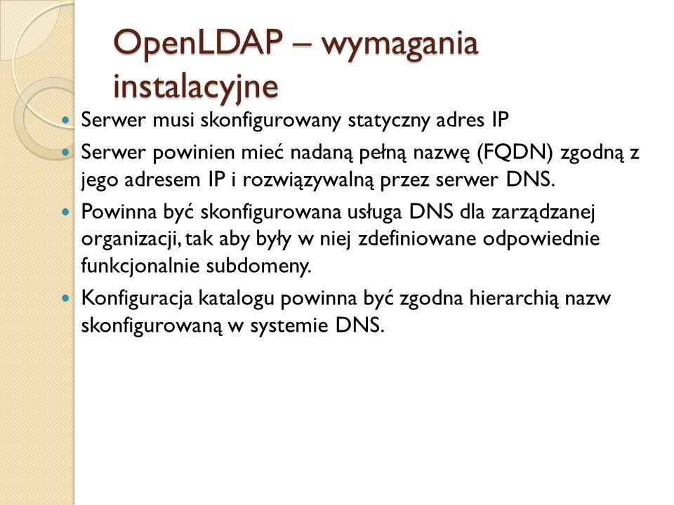 OpenLDAP – wymagania instalacyjne