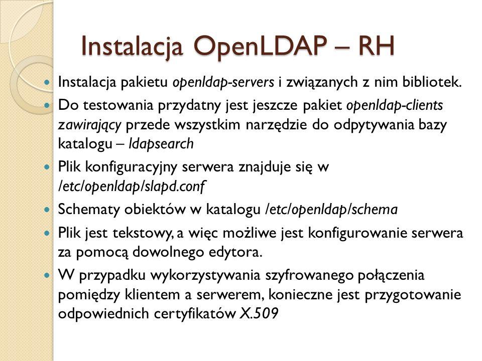 Instalacja OpenLDAP – RH