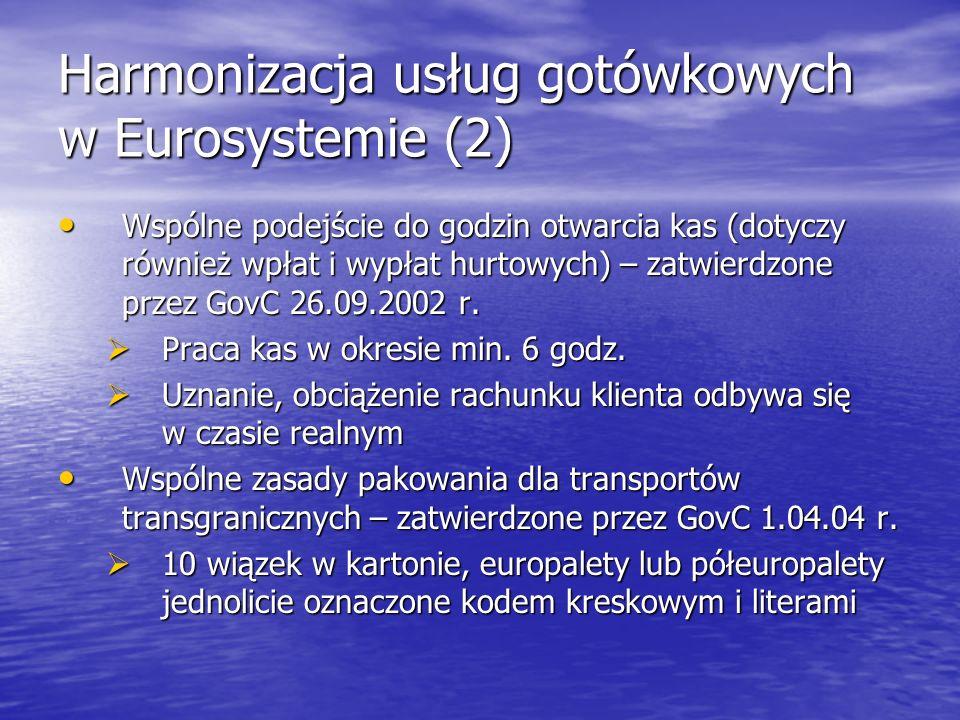 Harmonizacja usług gotówkowych w Eurosystemie (2)
