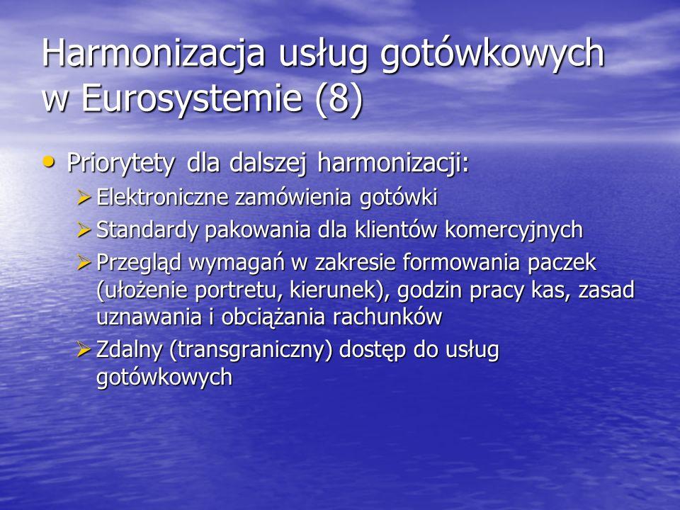 Harmonizacja usług gotówkowych w Eurosystemie (8)