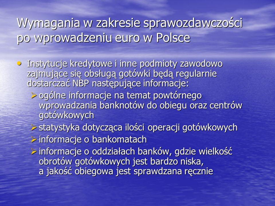Wymagania w zakresie sprawozdawczości po wprowadzeniu euro w Polsce