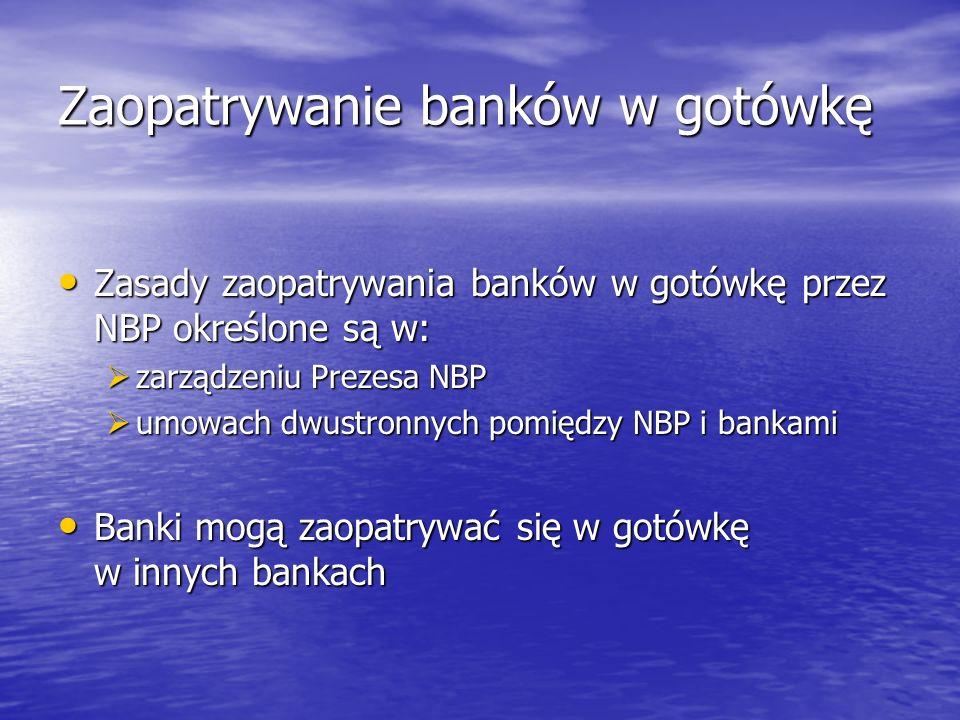 Zaopatrywanie banków w gotówkę
