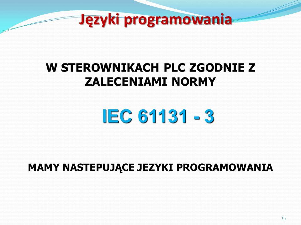 IEC 61131 - 3 Języki programowania