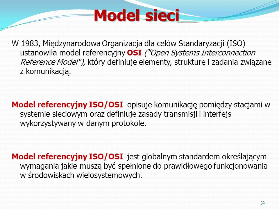 Model sieci