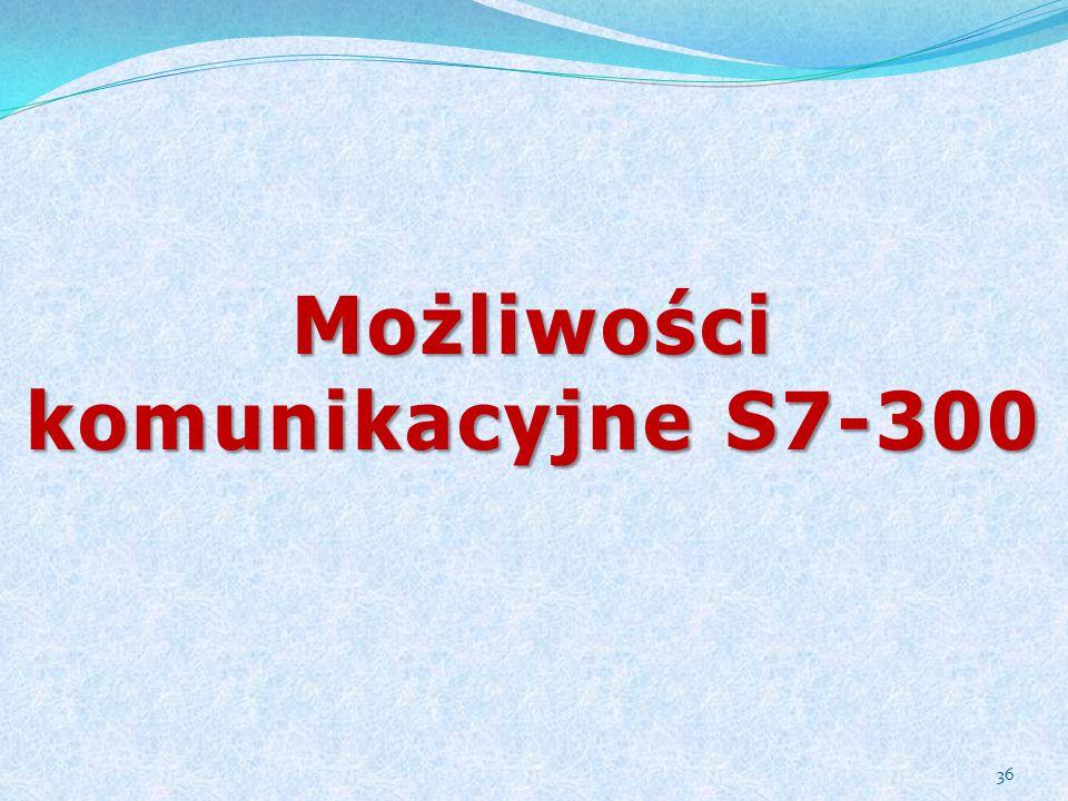 Możliwości komunikacyjne S7-300