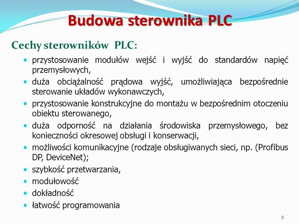 Budowa sterownika PLC Cechy sterowników PLC: