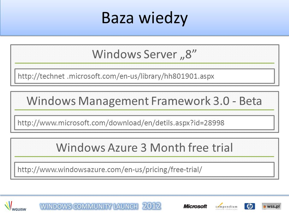 "Baza wiedzy Windows Server ""8 Windows Management Framework 3.0 - Beta"