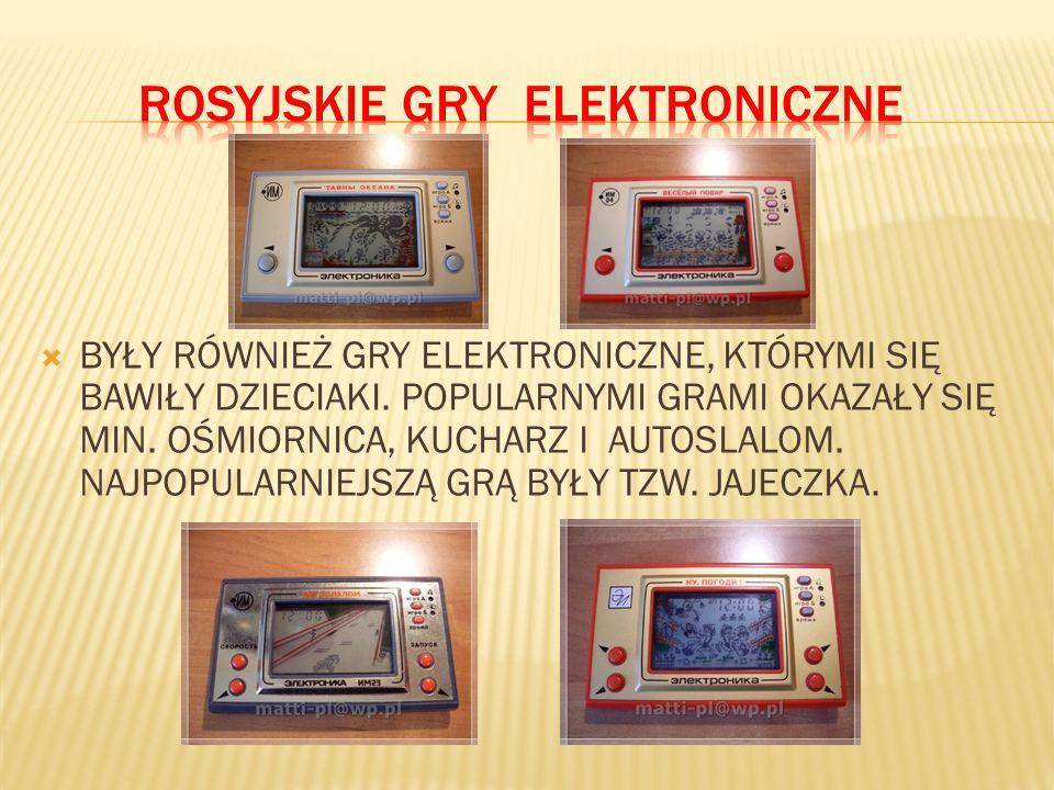 ROSYJSKIE GRY ELEKTRONICZNE