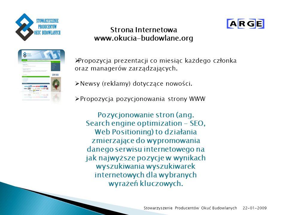 Strona Internetowa www.okucia-budowlane.org