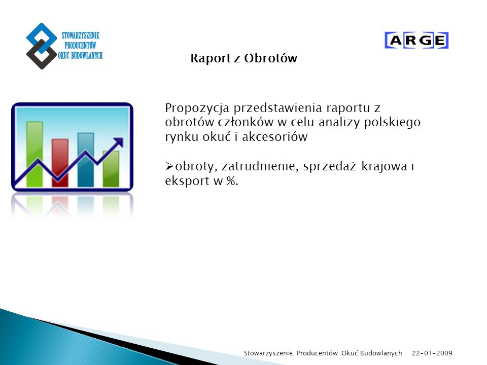 obroty, zatrudnienie, sprzedaż krajowa i eksport w %.