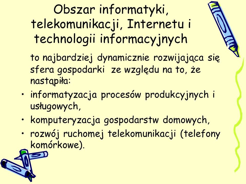 Obszar informatyki, telekomunikacji, Internetu i technologii informacyjnych