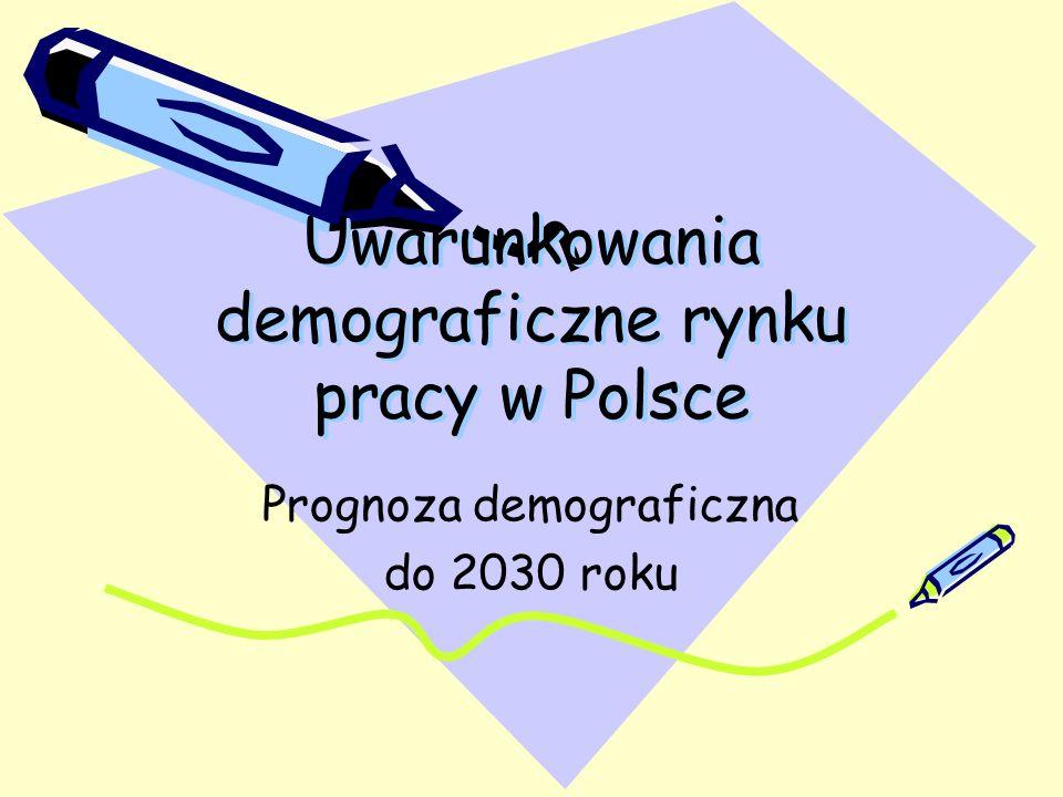 Uwarunkowania demograficzne rynku pracy w Polsce