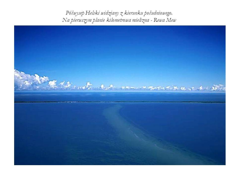 Półwysep Helski widziany z kierunku południowego