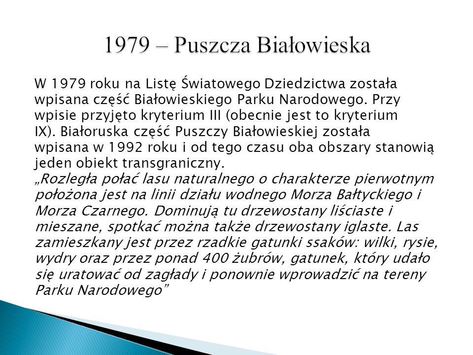 1979 – Puszcza Białowieska