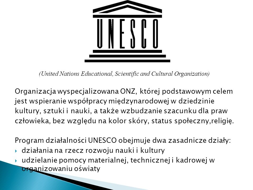 (United Nations Educational, Scientific and Cultural Organization)