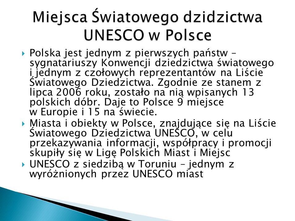 Miejsca Światowego dzidzictwa UNESCO w Polsce