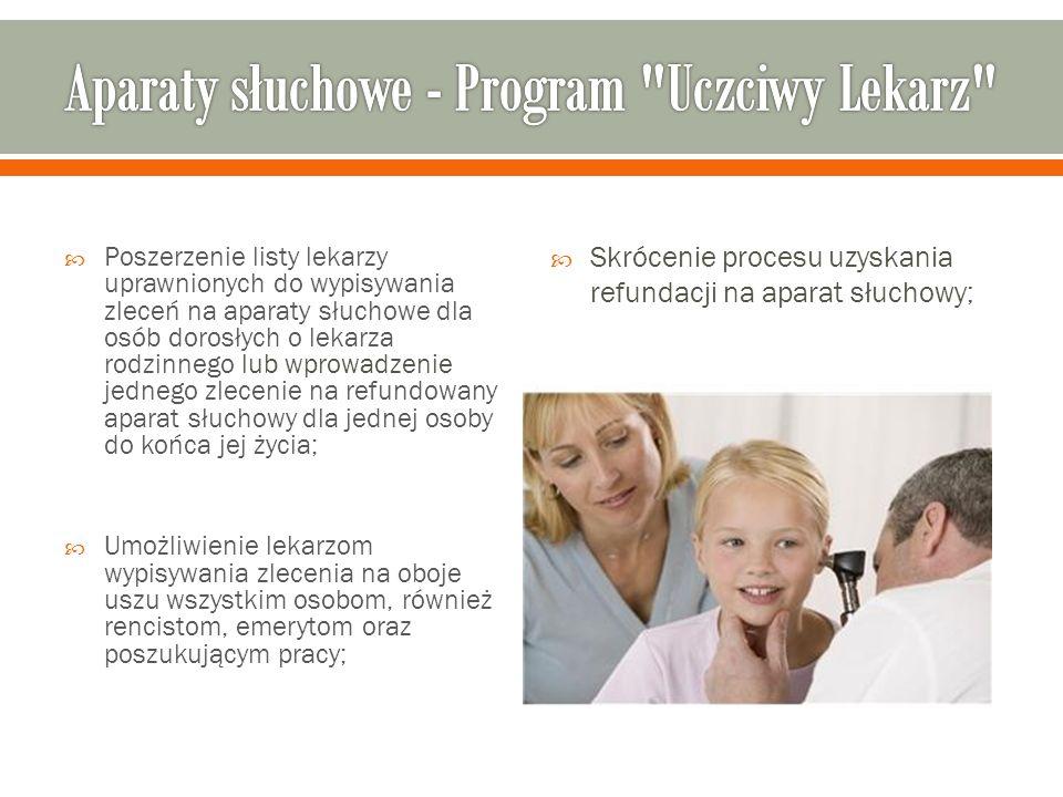 Aparaty słuchowe - Program Uczciwy Lekarz