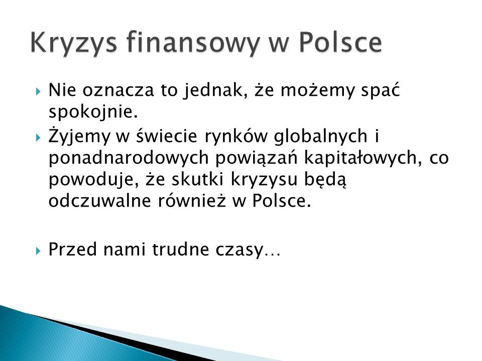 Kryzys finansowy w Polsce