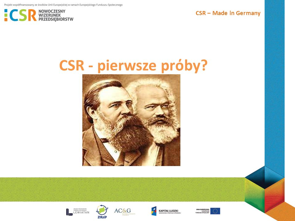 CSR – Made in Germany CSR - pierwsze prόby