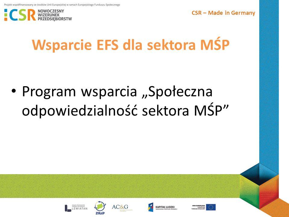 Wsparcie EFS dla sektora MŚP