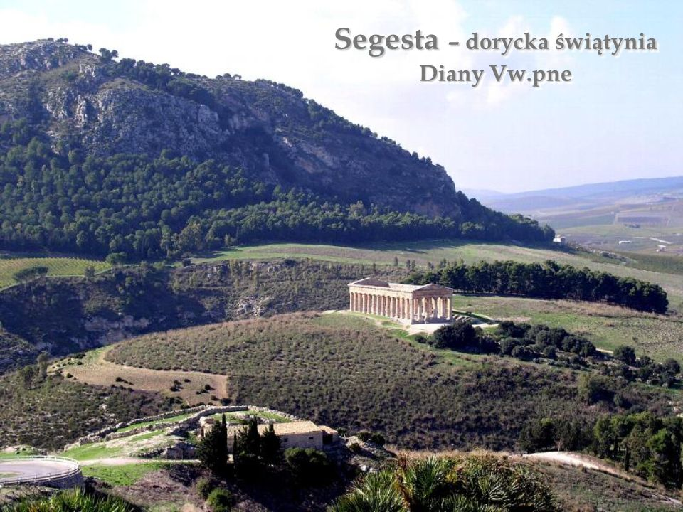 Segesta – dorycka świątynia Diany Vw.pne