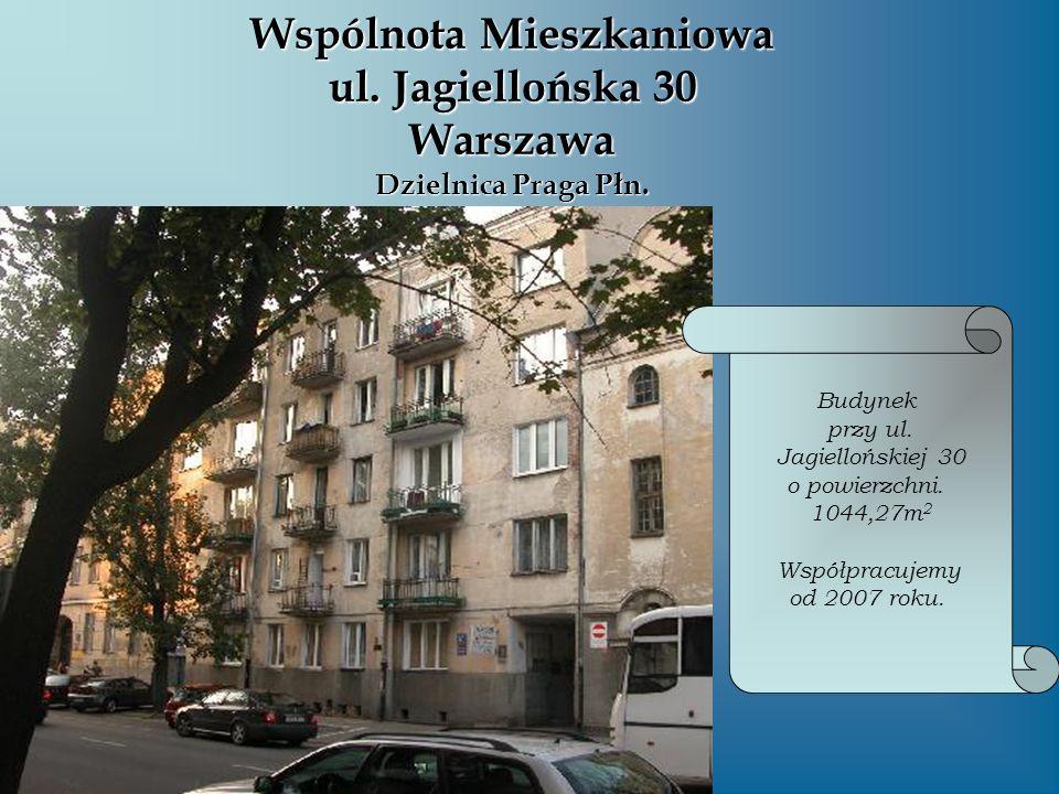 Wspólnota Mieszkaniowa ul. Jagiellońska 30 Warszawa Dzielnica Praga Płn.