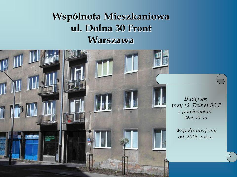 Wspólnota Mieszkaniowa ul. Dolna 30 Front Warszawa