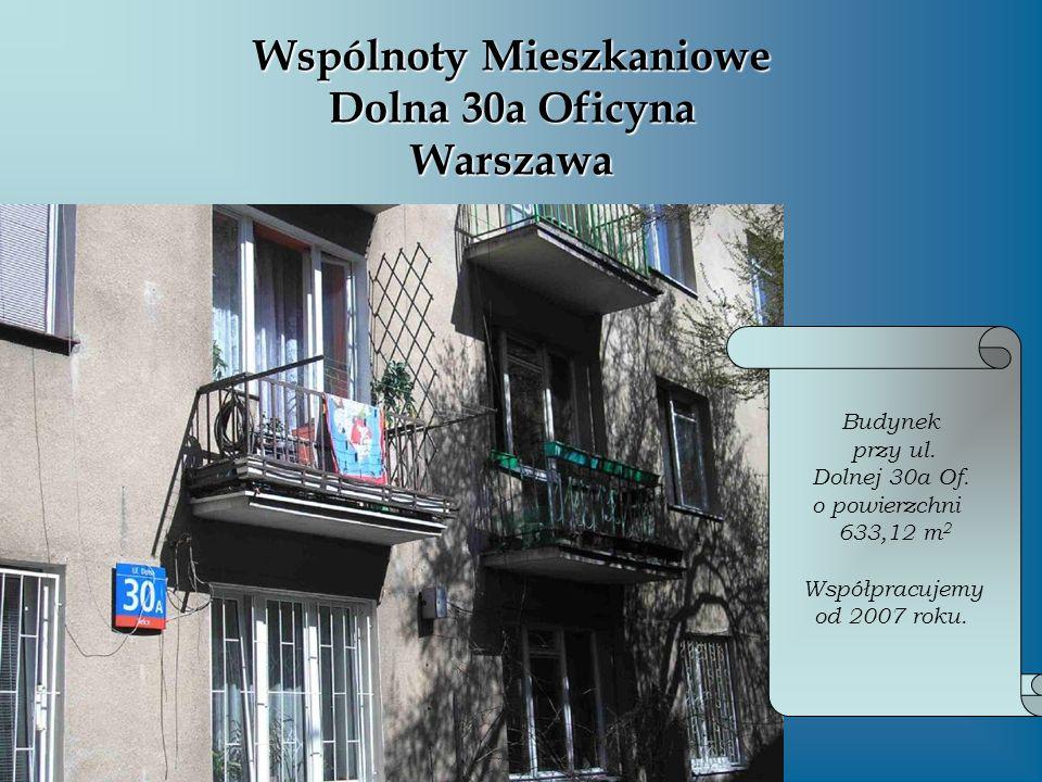 Wspólnoty Mieszkaniowe Dolna 30a Oficyna Warszawa