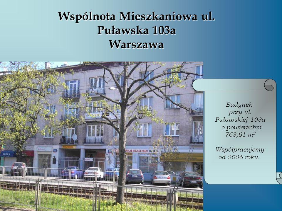 Wspólnota Mieszkaniowa ul. Puławska 103a Warszawa