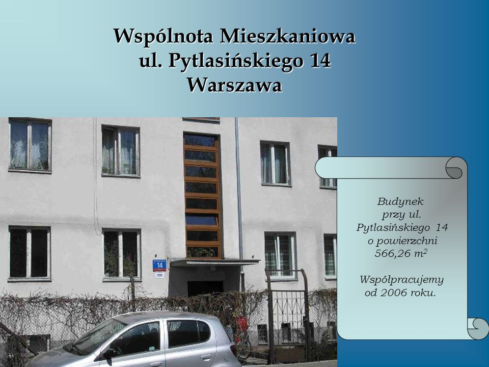 Wspólnota Mieszkaniowa ul. Pytlasińskiego 14 Warszawa