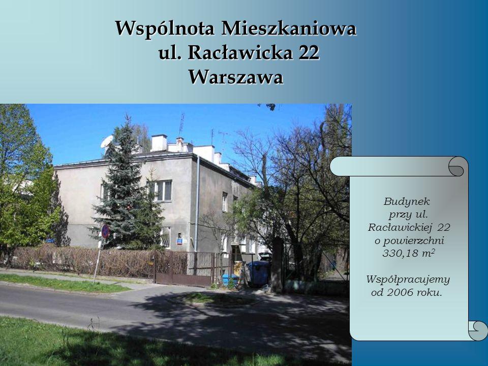 Wspólnota Mieszkaniowa ul. Racławicka 22 Warszawa