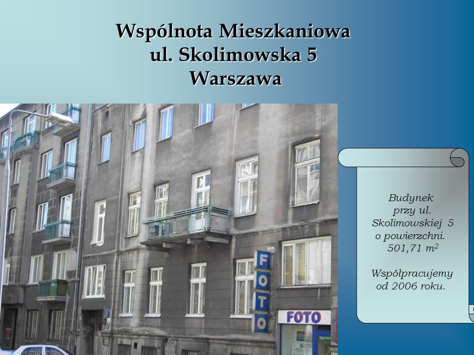 Wspólnota Mieszkaniowa ul. Skolimowska 5 Warszawa