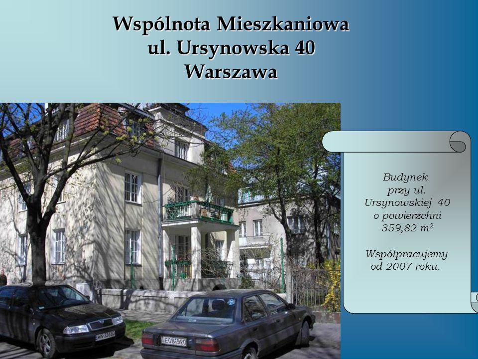 Wspólnota Mieszkaniowa ul. Ursynowska 40 Warszawa