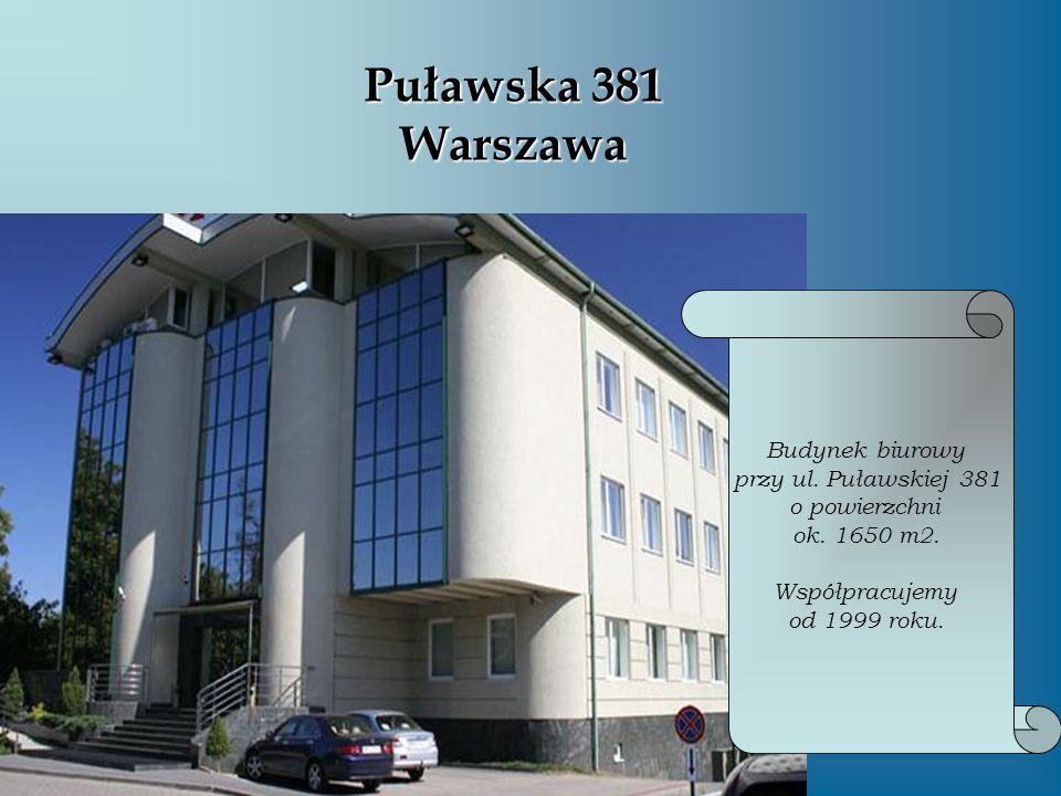 Puławska 381 Warszawa Budynek biurowy przy ul. Puławskiej 381