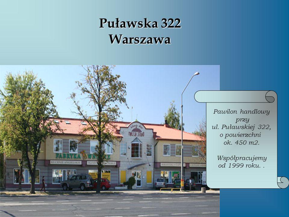 Puławska 322 Warszawa Pawilon handlowy przy ul. Puławskiej 322,