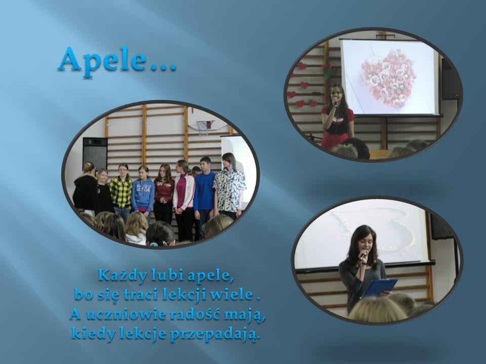 Apele… Każdy lubi apele, bo się traci lekcji wiele .