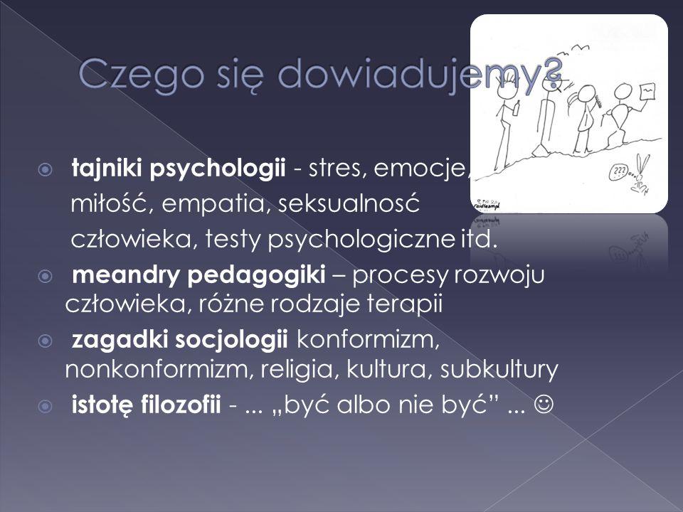 Czego się dowiadujemy tajniki psychologii - stres, emocje,