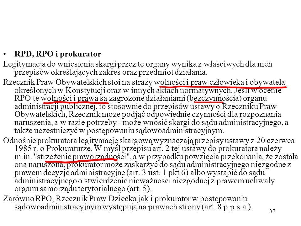 RPD, RPO i prokurator