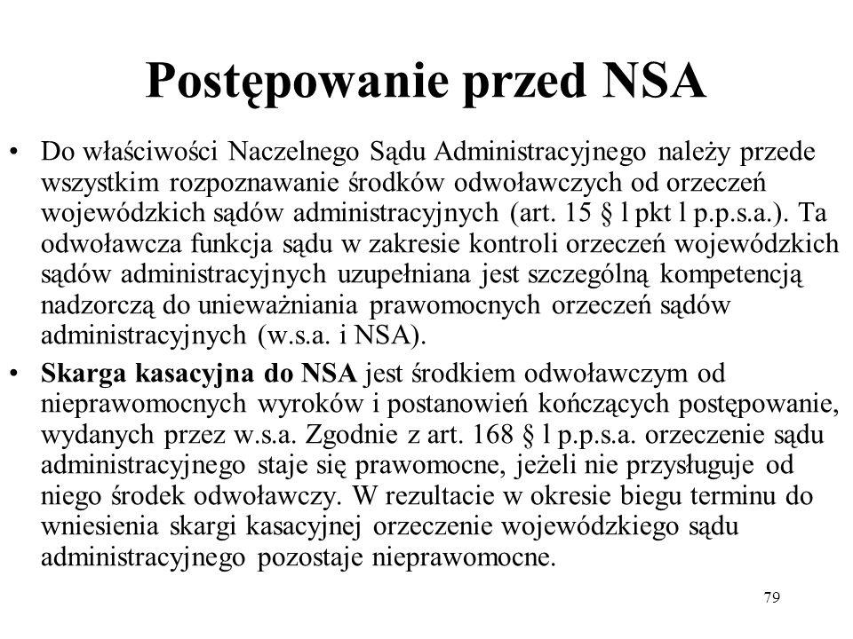 Postępowanie przed NSA