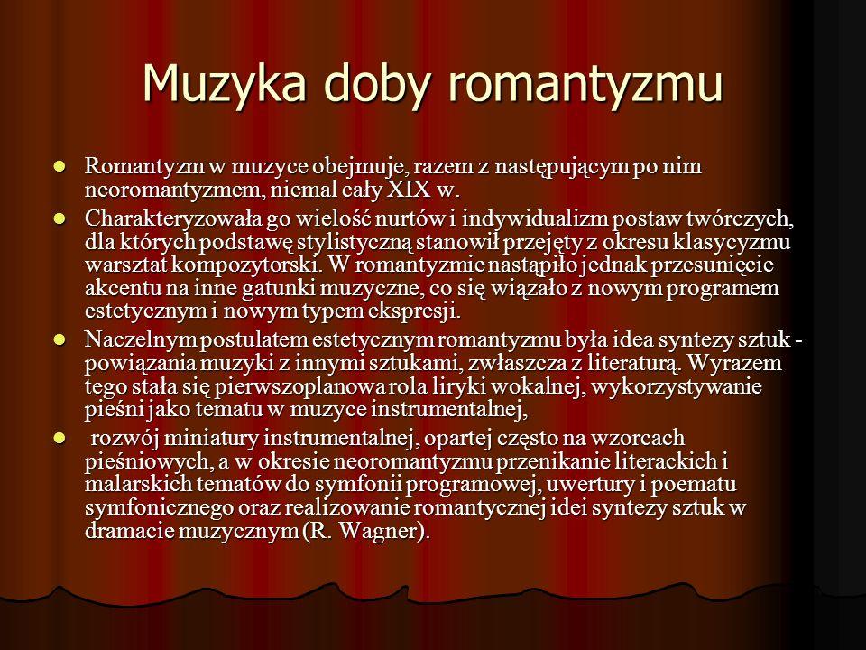 Muzyka doby romantyzmu