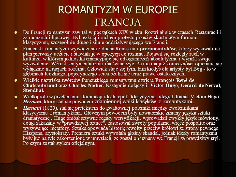 ROMANTYZM W EUROPIE FRANCJA