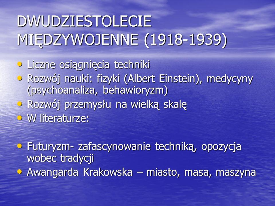 DWUDZIESTOLECIE MIĘDZYWOJENNE (1918-1939)