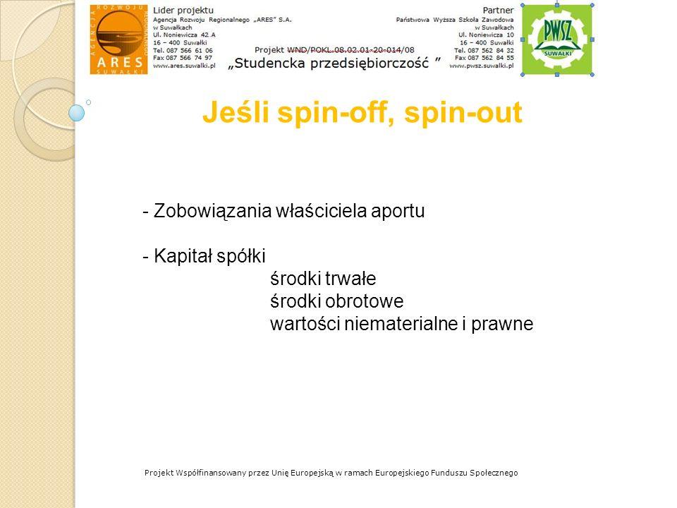 Jeśli spin-off, spin-out