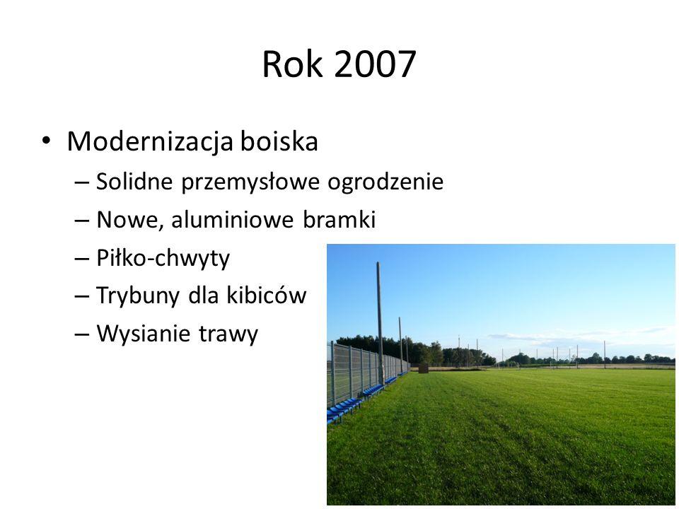 Rok 2007 Modernizacja boiska Solidne przemysłowe ogrodzenie
