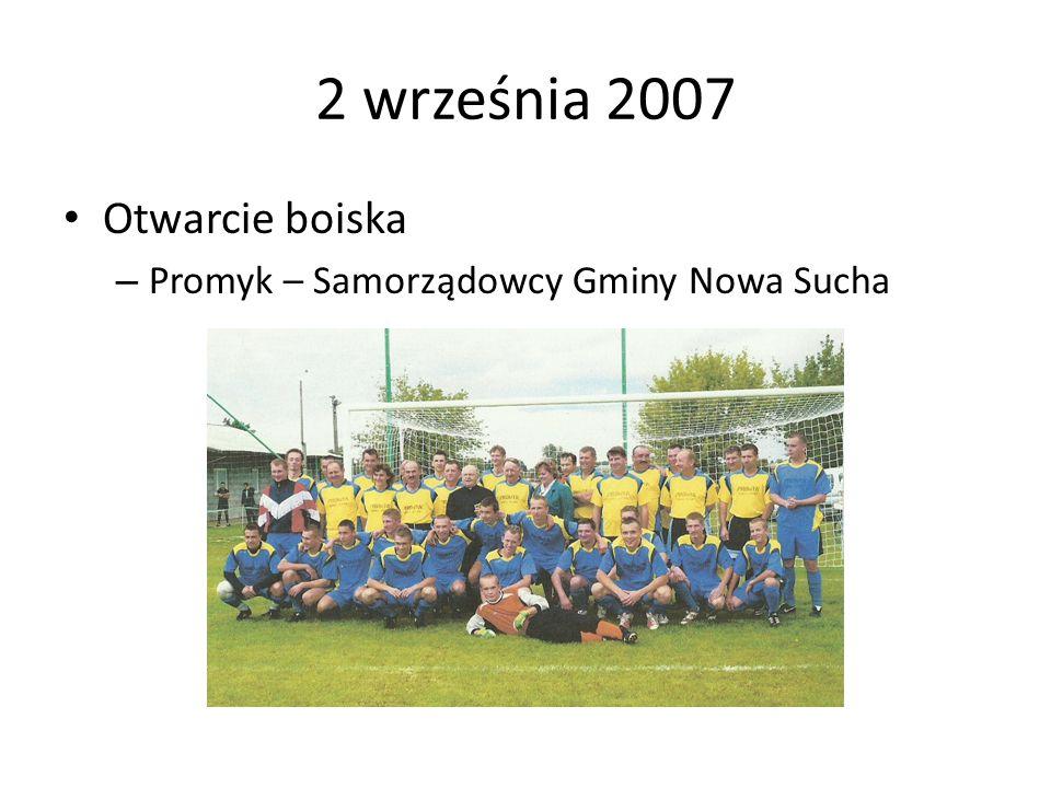 2 września 2007 Otwarcie boiska Promyk – Samorządowcy Gminy Nowa Sucha