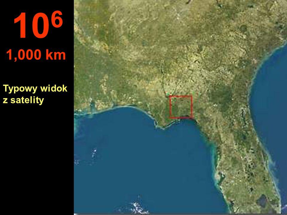 106 1,000 km Typowy widok z satelity