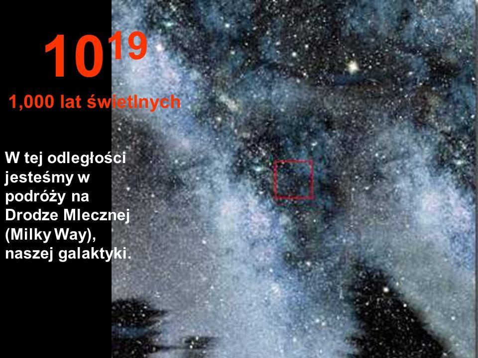 1019 1,000 lat świetlnych.