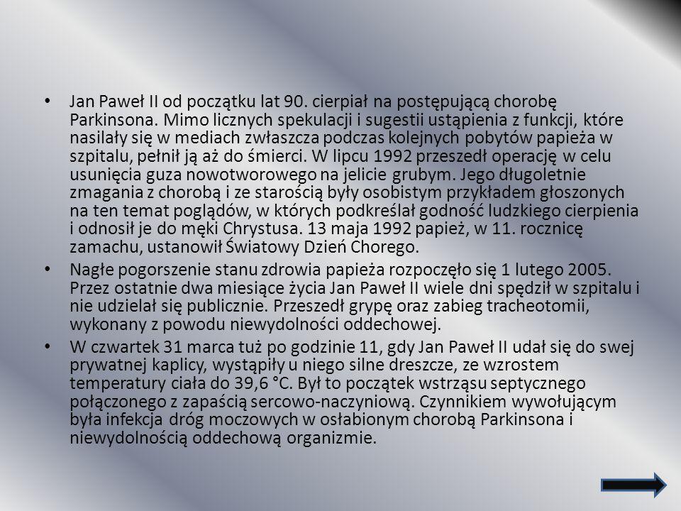 Jan Paweł II od początku lat 90